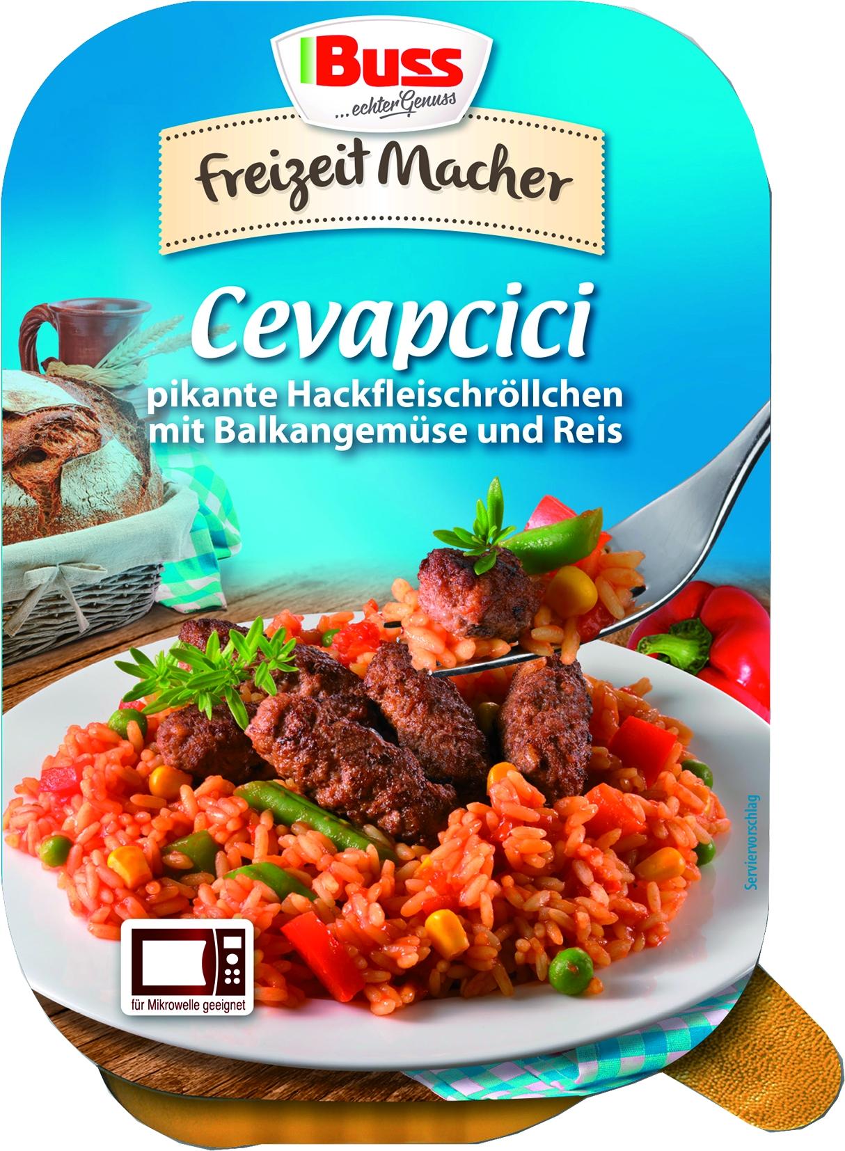 Cevapcici mit Balkangemuese und Reis