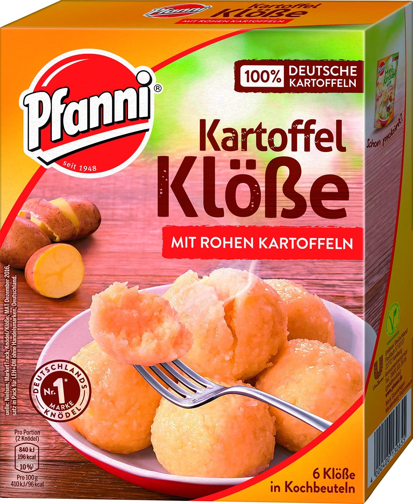 Rohe Knoedel in Kochbeutel 6 Stck.