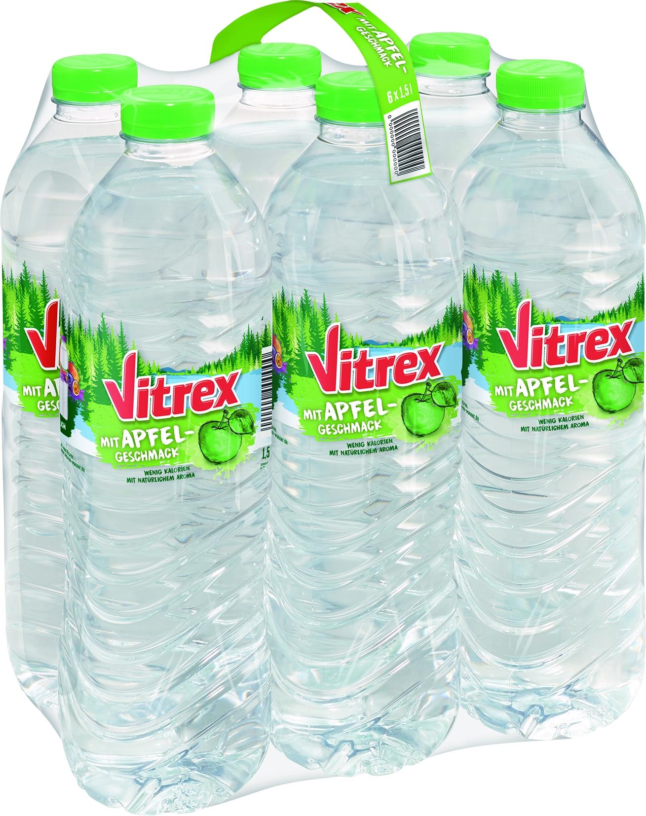 Mineralwasser mit Apfel