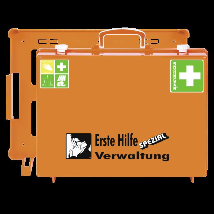 Erste-Hilfe-Koffer VERWALTUNG mit der Basis-Ausstattung nach der aktuellen DIN-Norm 13157