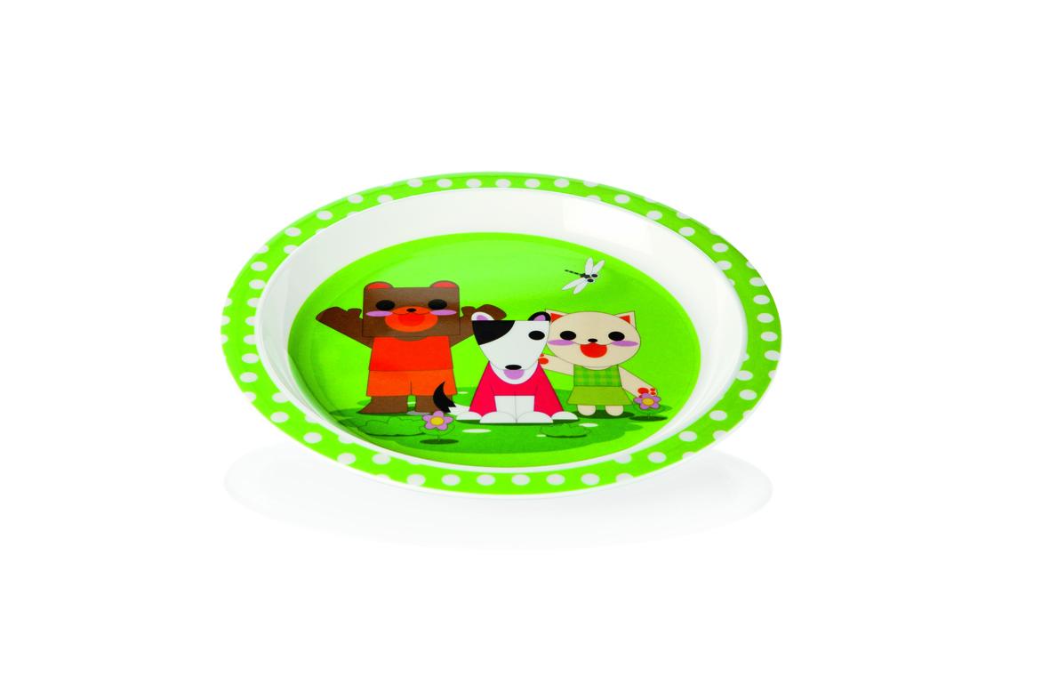 Kinderteller, Ø21,5cm, Motiv: Bär, Hund