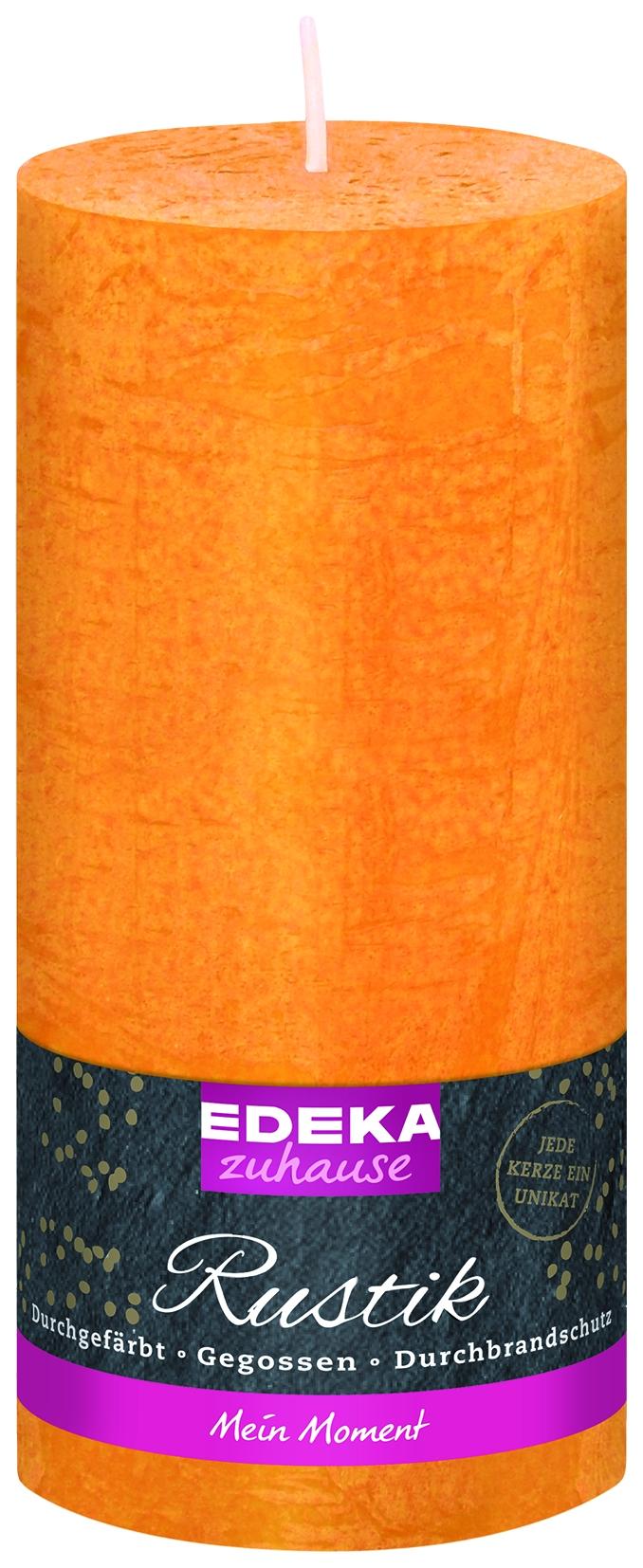Stumpenkerze Rustik gelb 160x70mm