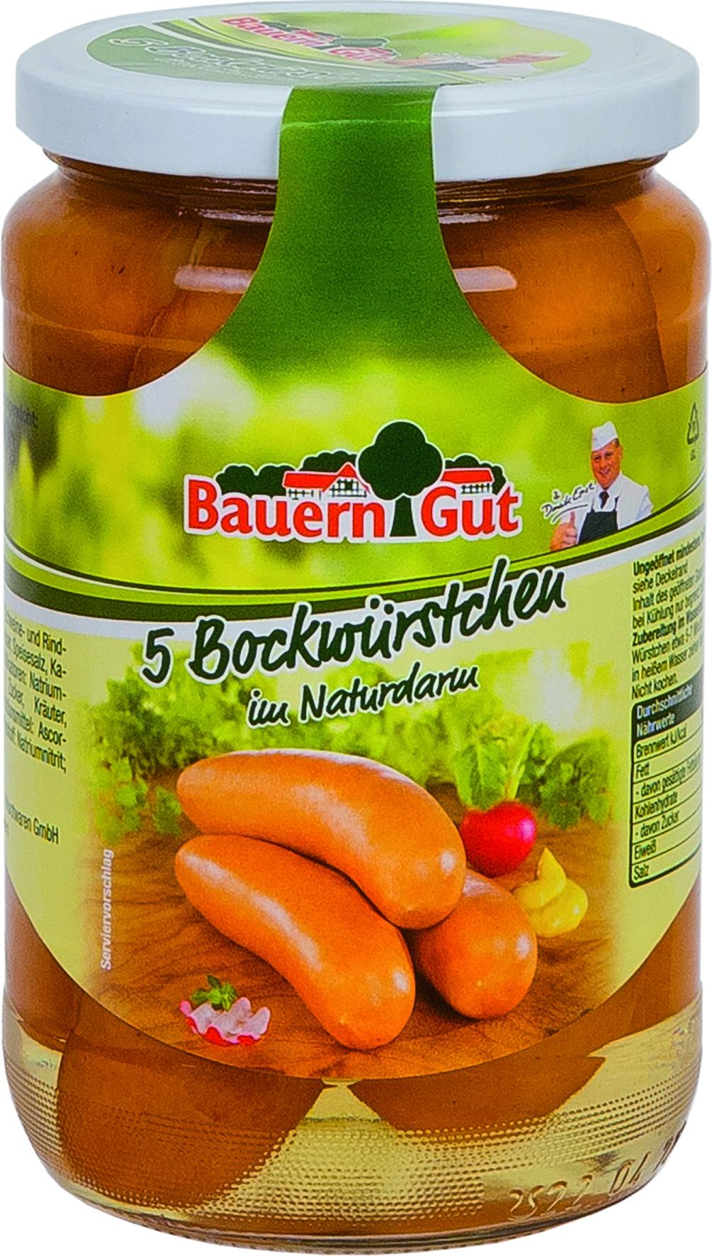 Bockwurst in Naturdarm 5 St = 400 gr