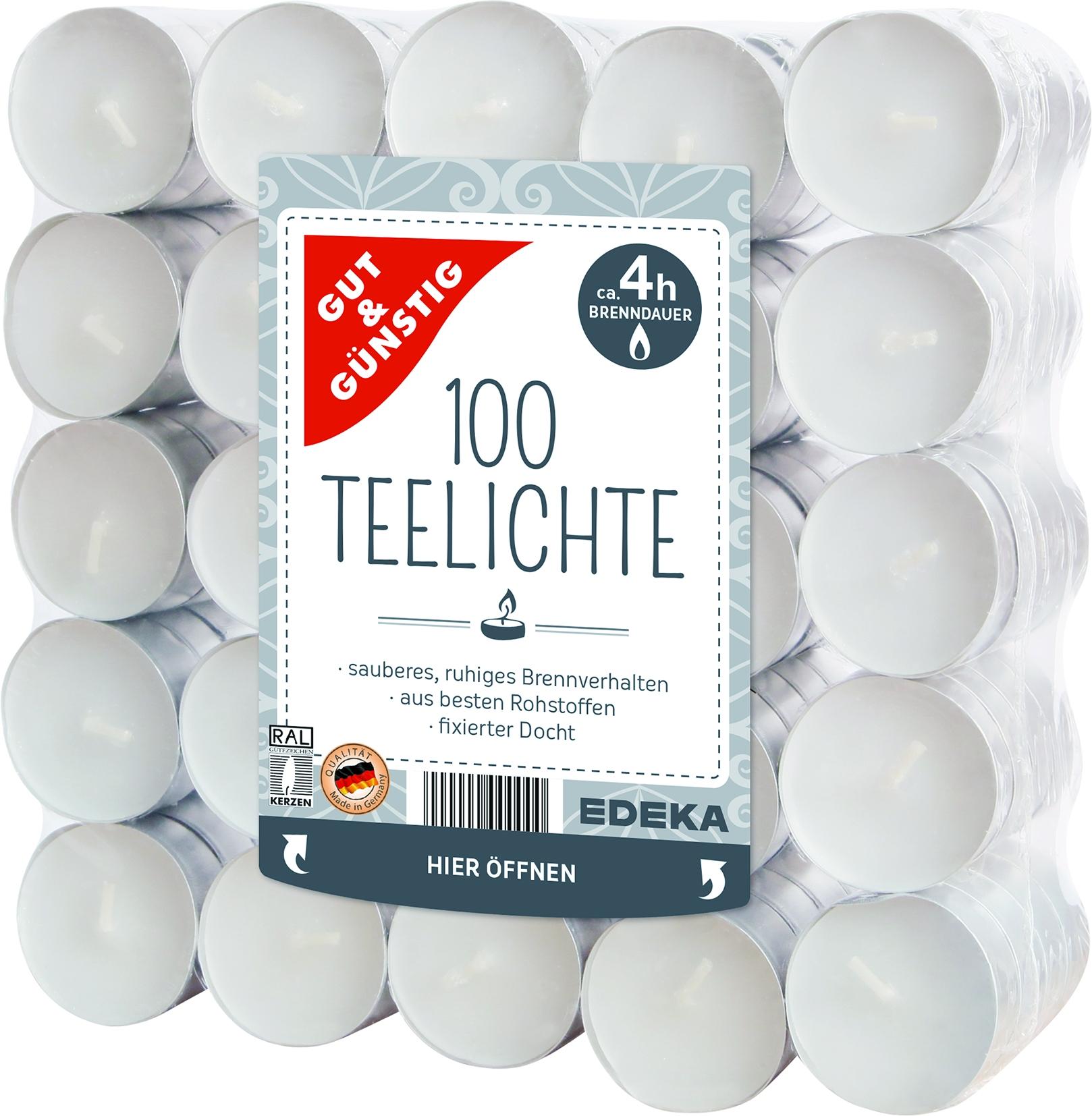 Teelichter 100er