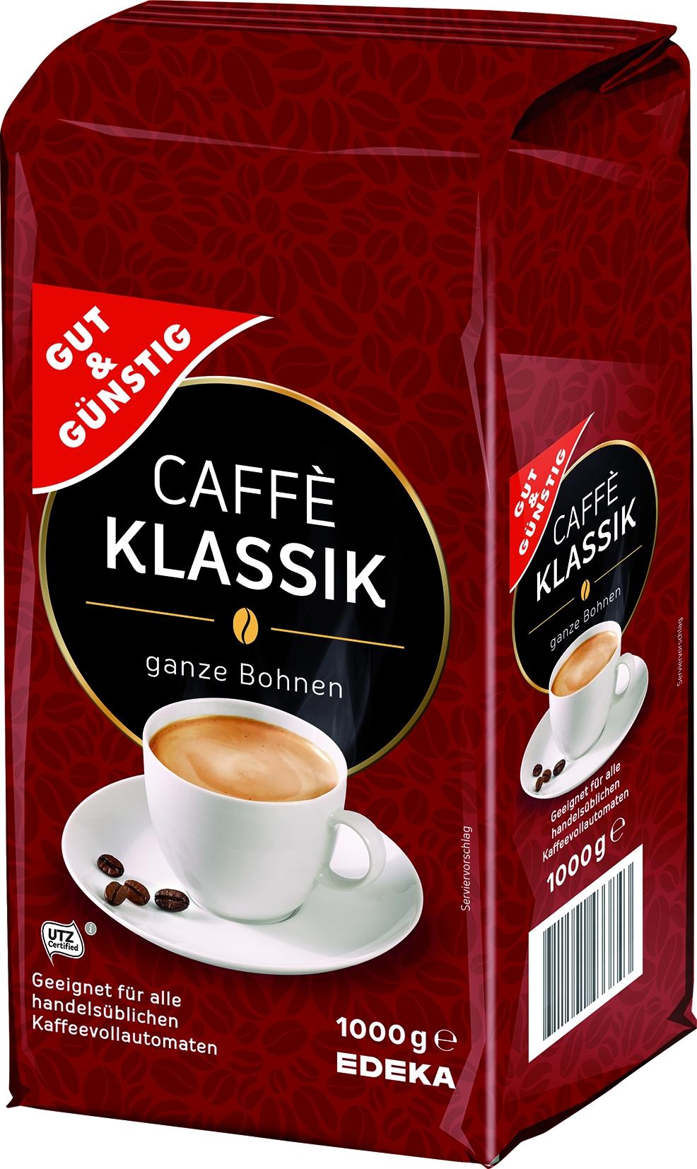 Kaffee Klassik ganze Bohne