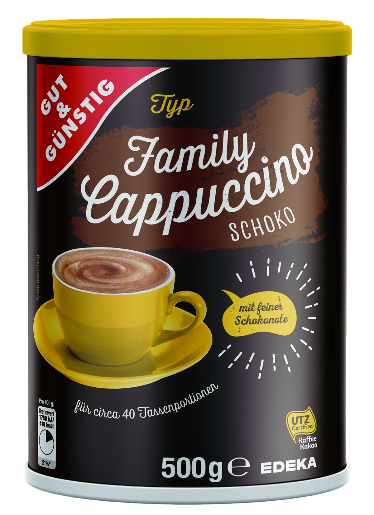 Cappuccino Schokolade