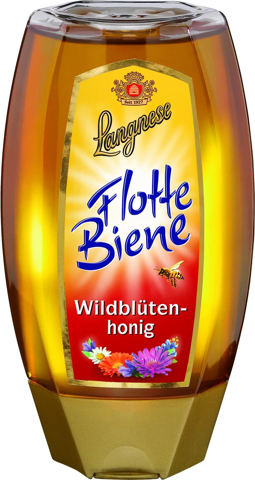 Flotte Biene Wildblumen Honig