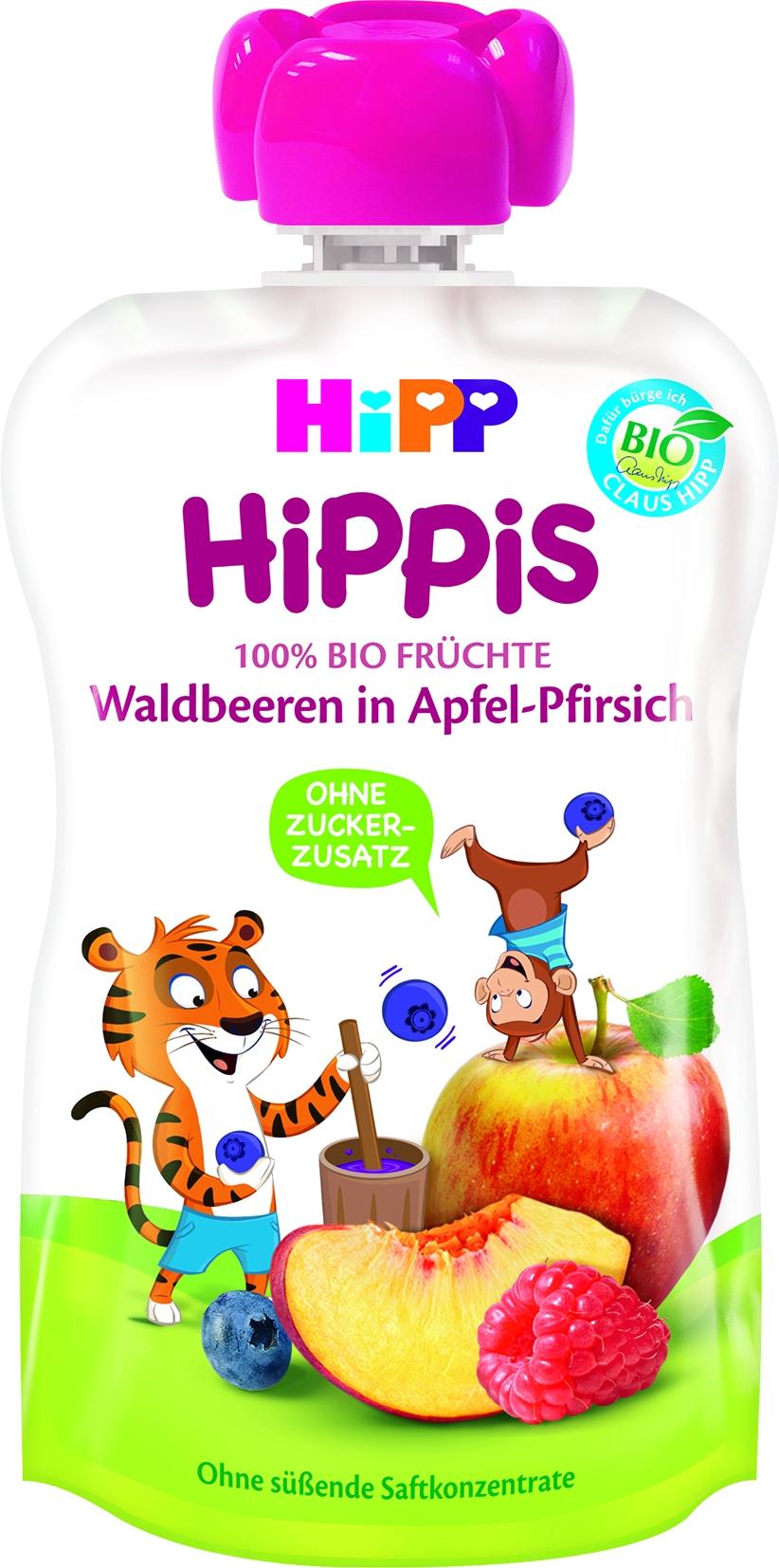 8525-01 Hippis Waldbeer/Apfel/Pfirsich