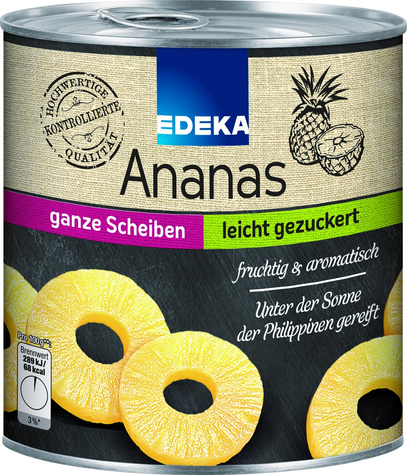 Ananas Scheiben gezuckert