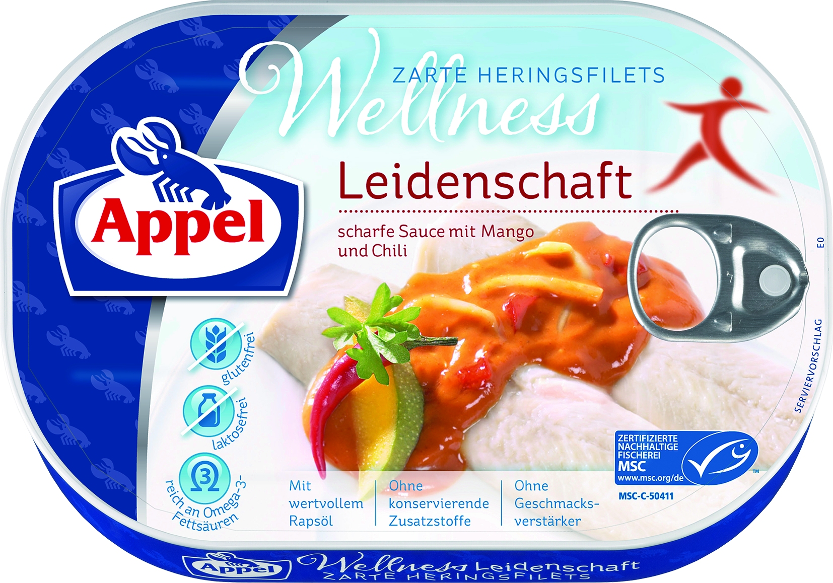 MSC Heringsfilets Wellness Leidenschaft in Chili/Mango