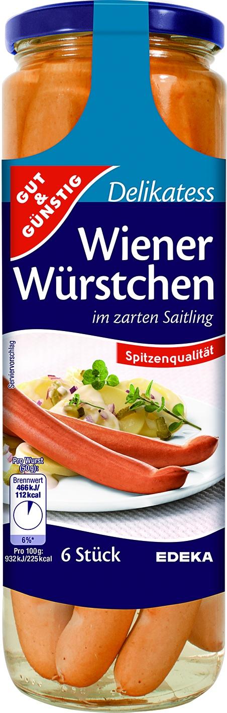 Wiener Wuerstchen 6 St= 300 gr