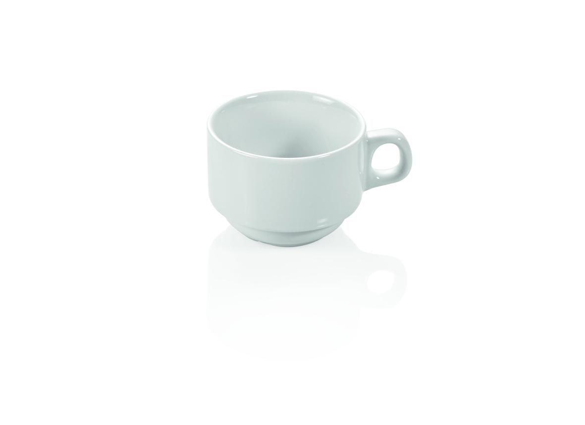 Kaffeetasse aus Porzellan 0,18 ltr weiß