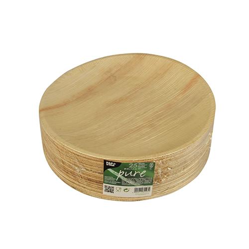 """Teller aus Palmblatt """"pure"""", rund 23cm, 25 St-"""