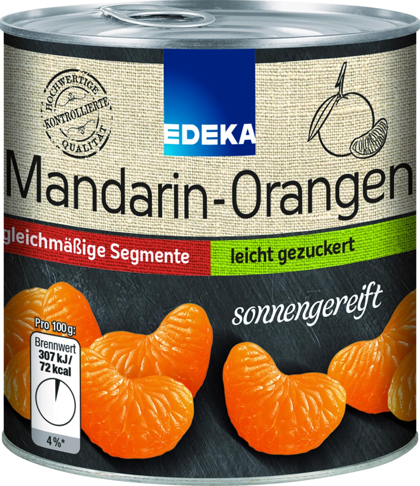 Mandarinen leicht gezuckert