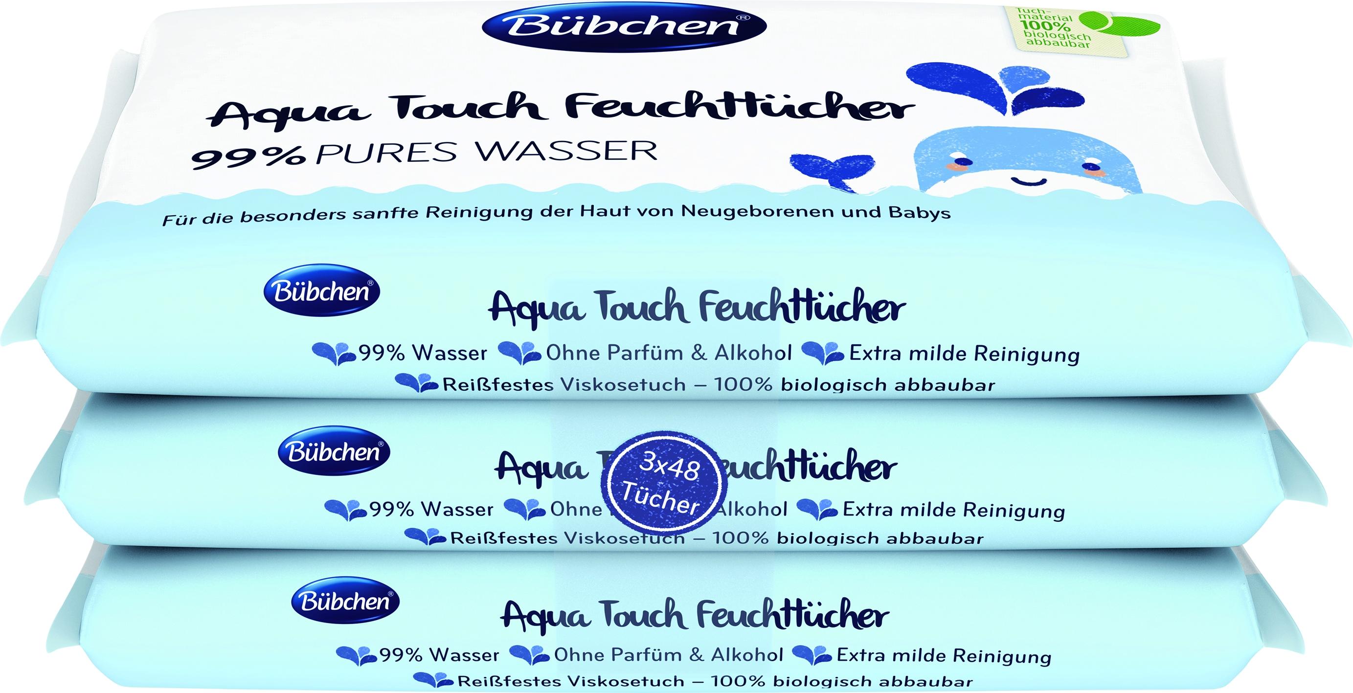 Aqua Touch Feuchttücher 3x48er