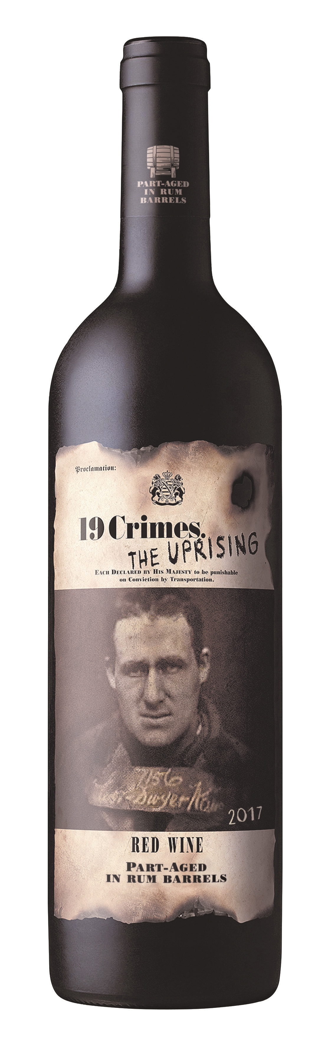 19 Crimes, The Uprising, South Eastern Australia, semi-dry, red
