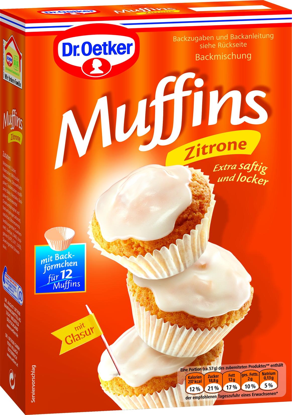 Muffins Teig Zitrone