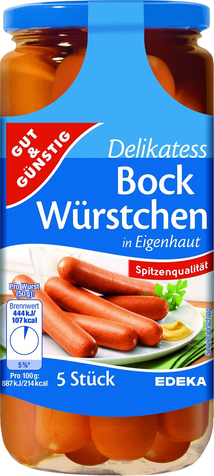Saftbockwurst in Eigenhaut 5 St= 250 gr