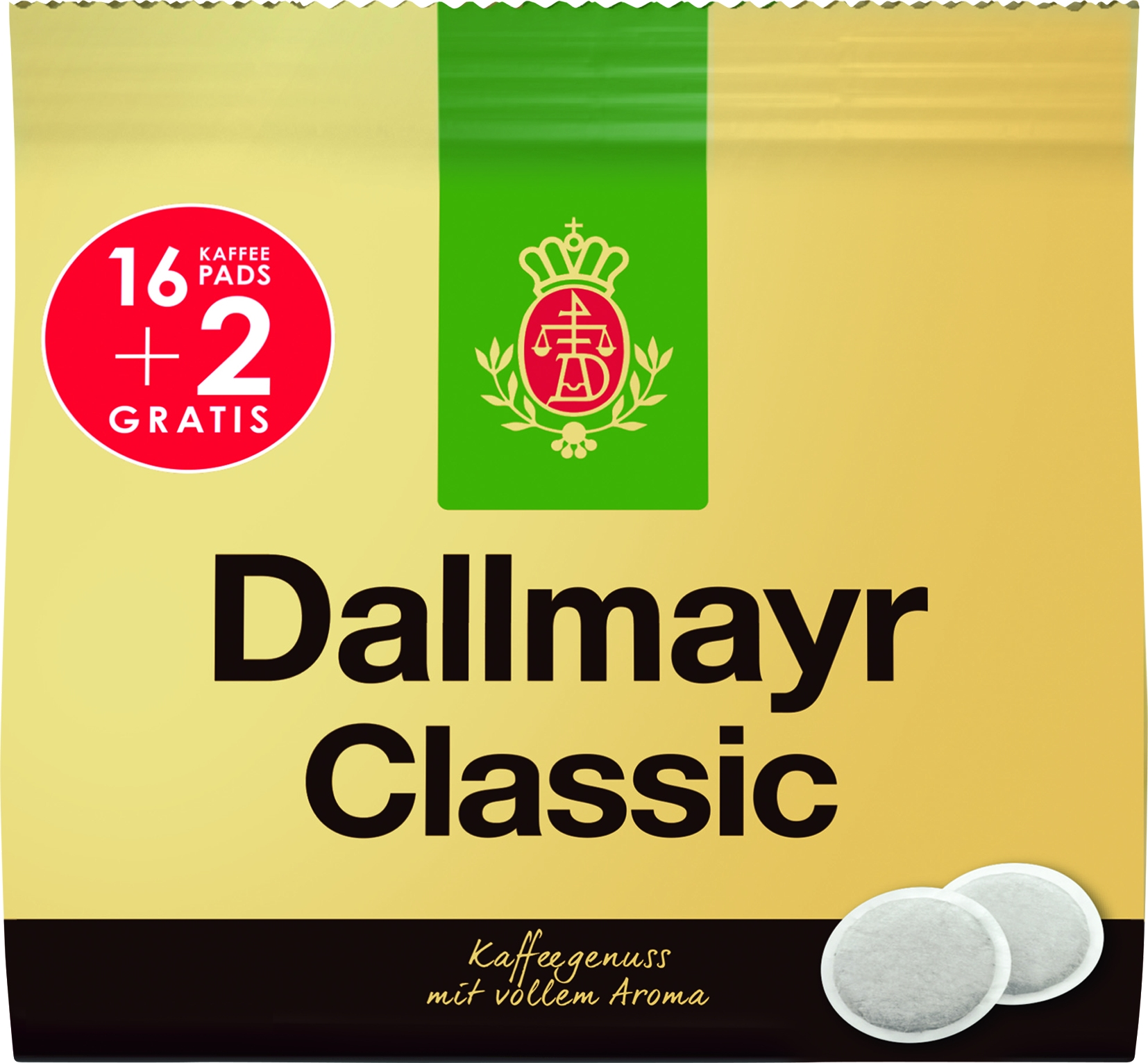 Kaffee Pads Classic 18x6,88gr