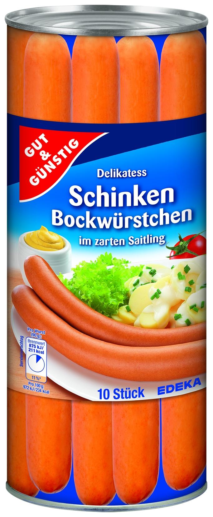 Bockwurst im Saitling 10 St= 900 gr