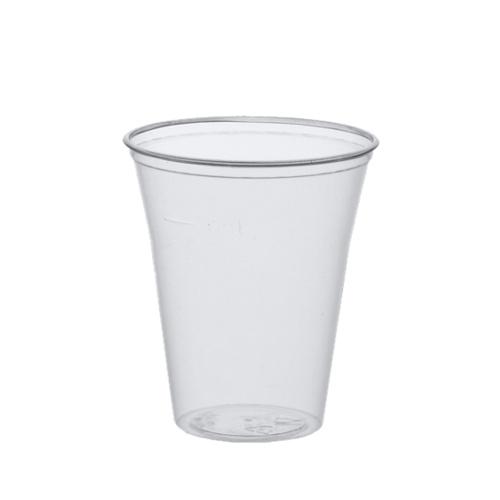 Trinkbecher, glasklar, PLA, 0,4lt, 75St. mit Schaumrand und Fuellstrich