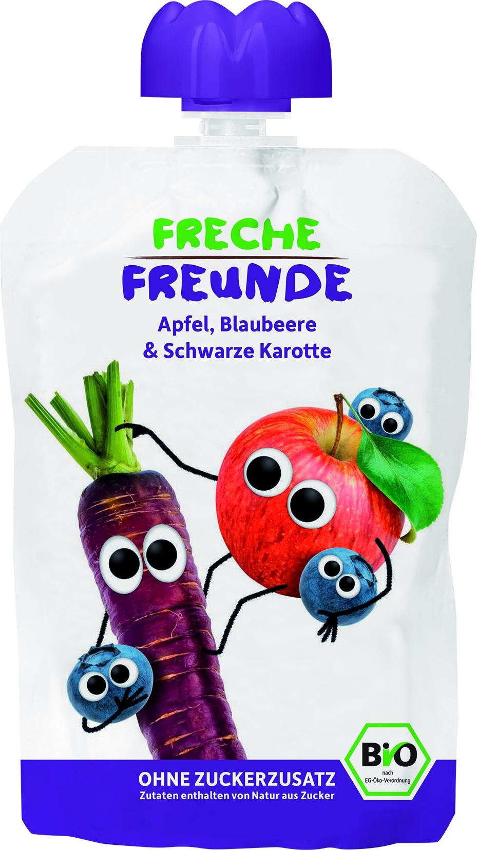 Freche Freunde - Apfel / Blaubeere / Schwarze Karotte