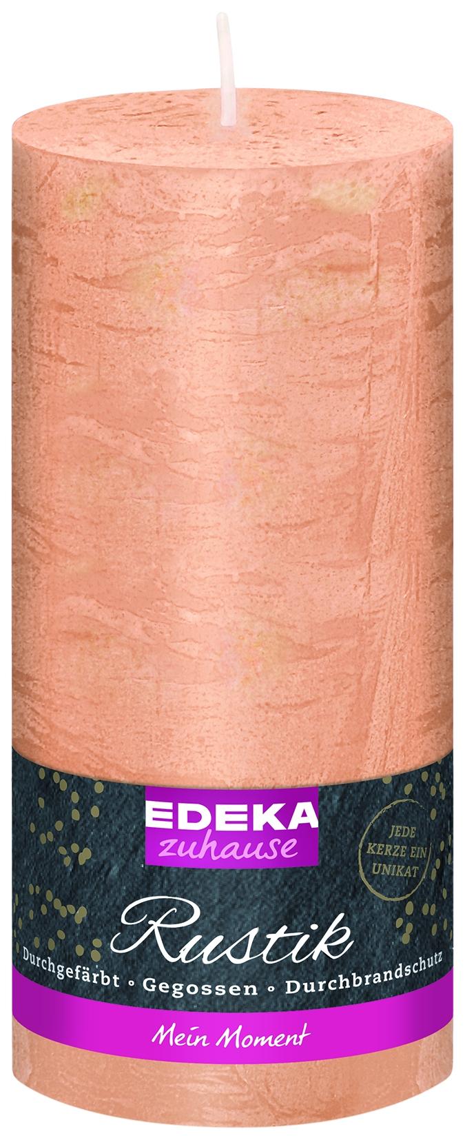 Stumpenkerze Rustik creme 160x70mm