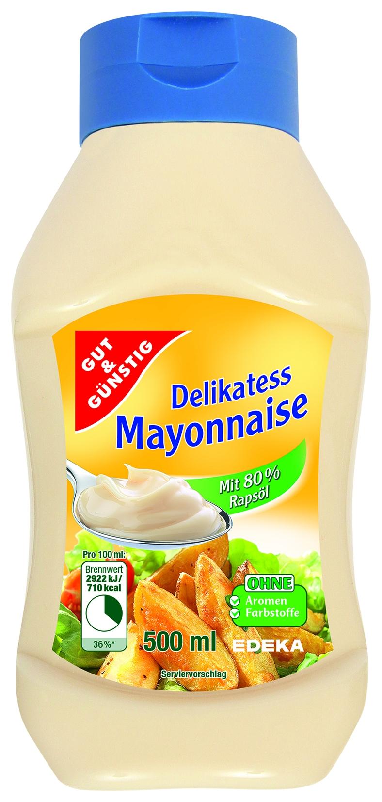 Delikatess Mayonnaise, Kopfstandflasche