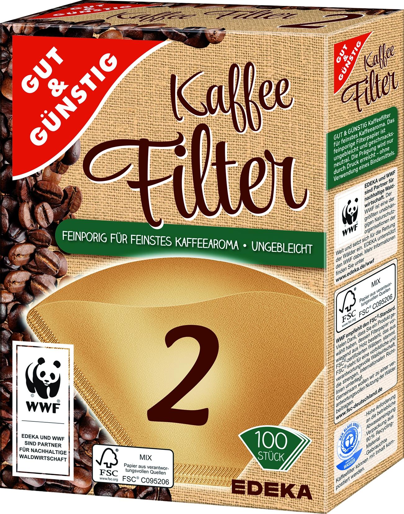Kaffeefilter Gr.2 naturbraun 100St.