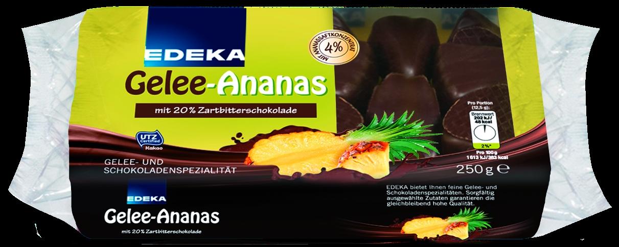 Gelee Ananas Ecken