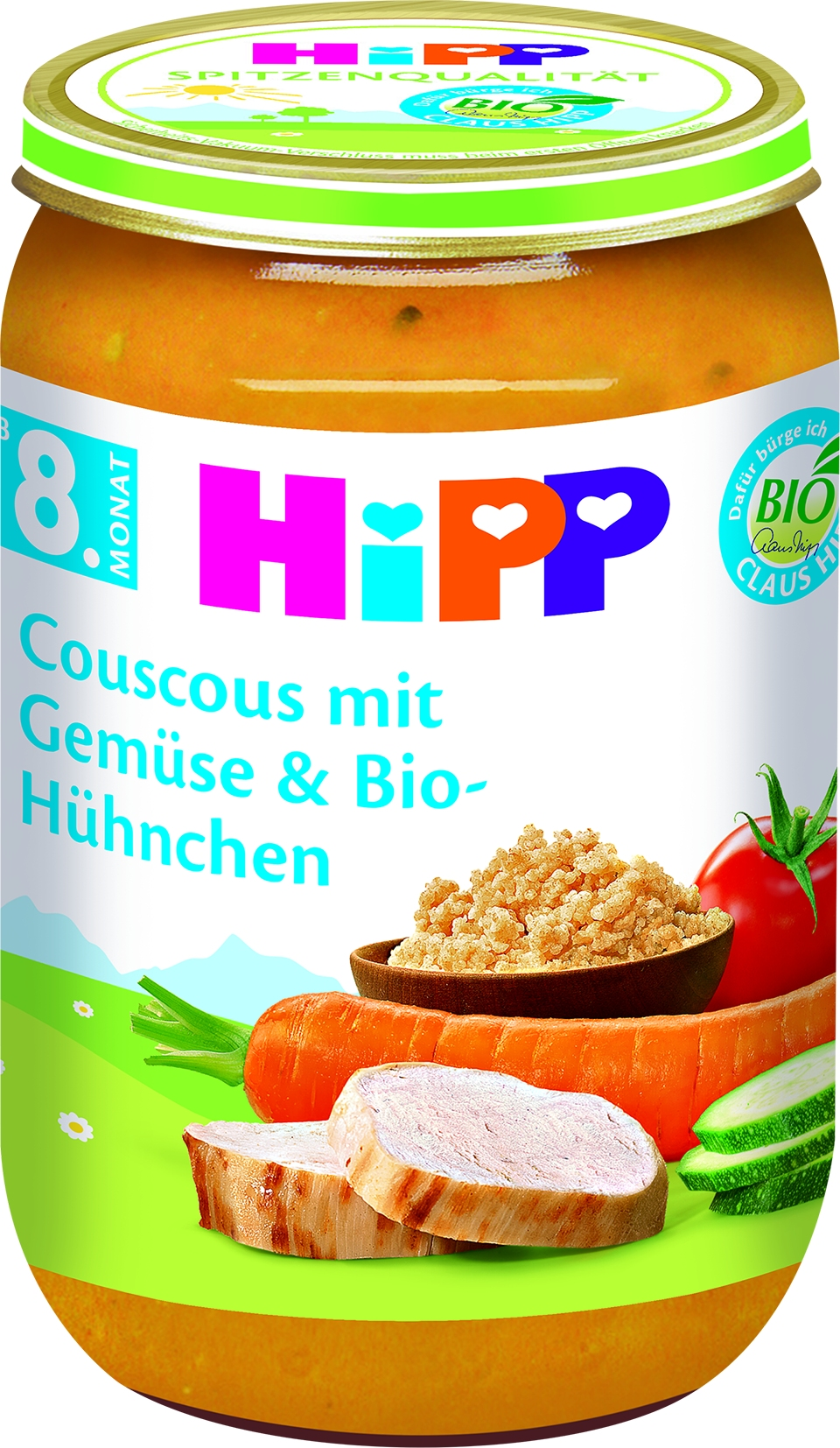Bio 6495-01 Couscous mit Gemüse und Hühnchen
