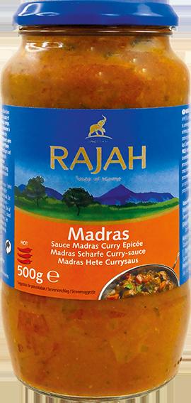 Madras Currysauce mit Tomaten, scharf