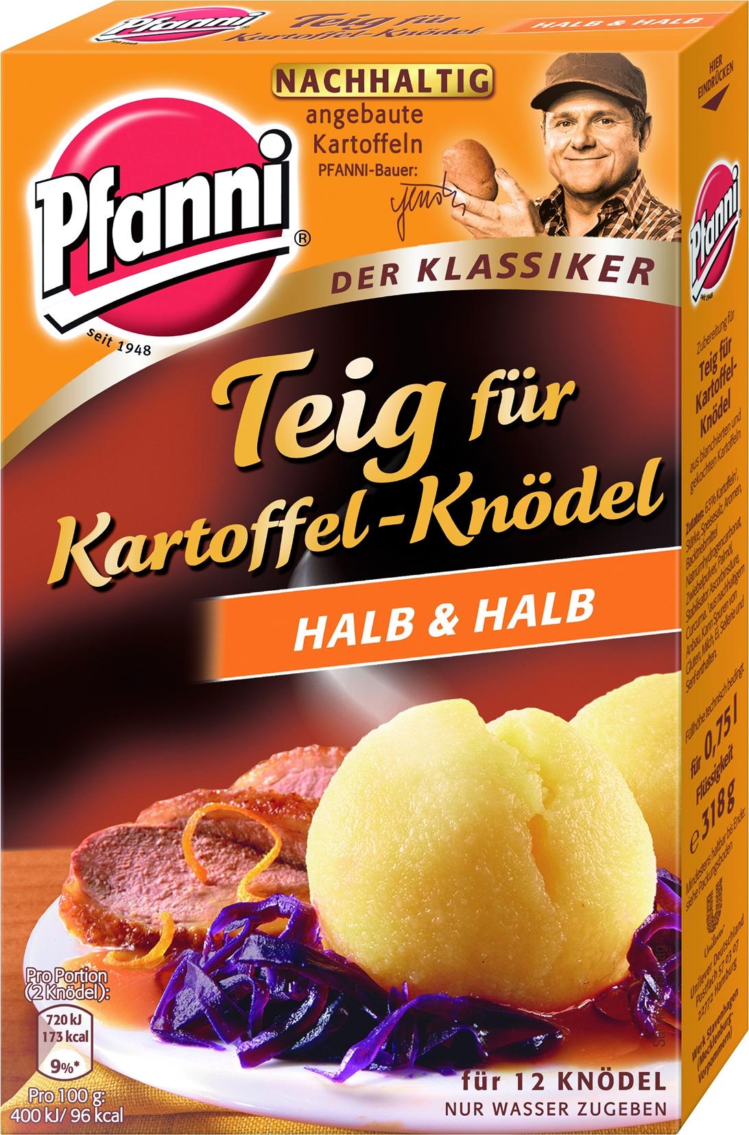Kartoffelknoedel Teig halb&halb 12St.