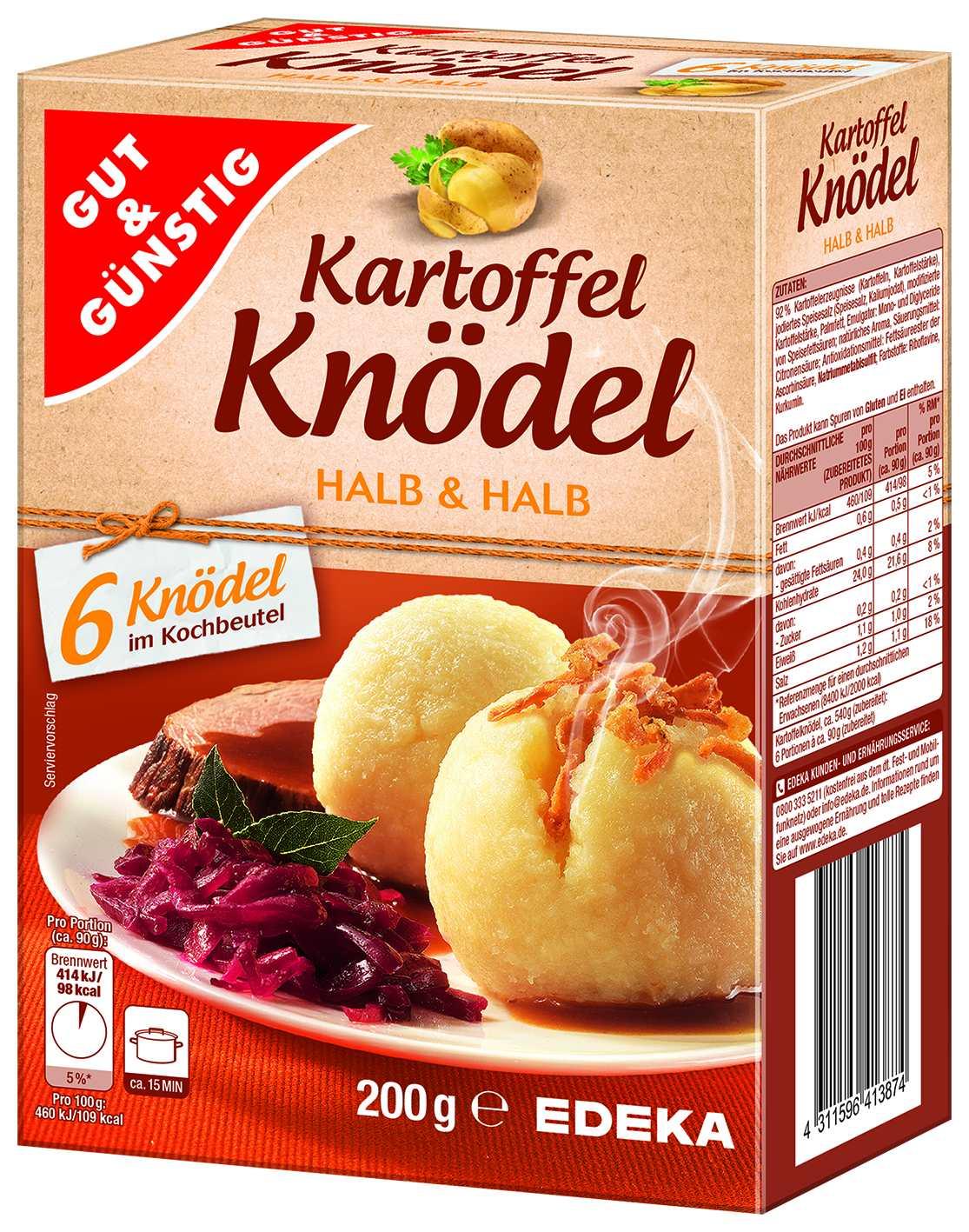 6 Kartoffelknoedel Halb&Halb im KB
