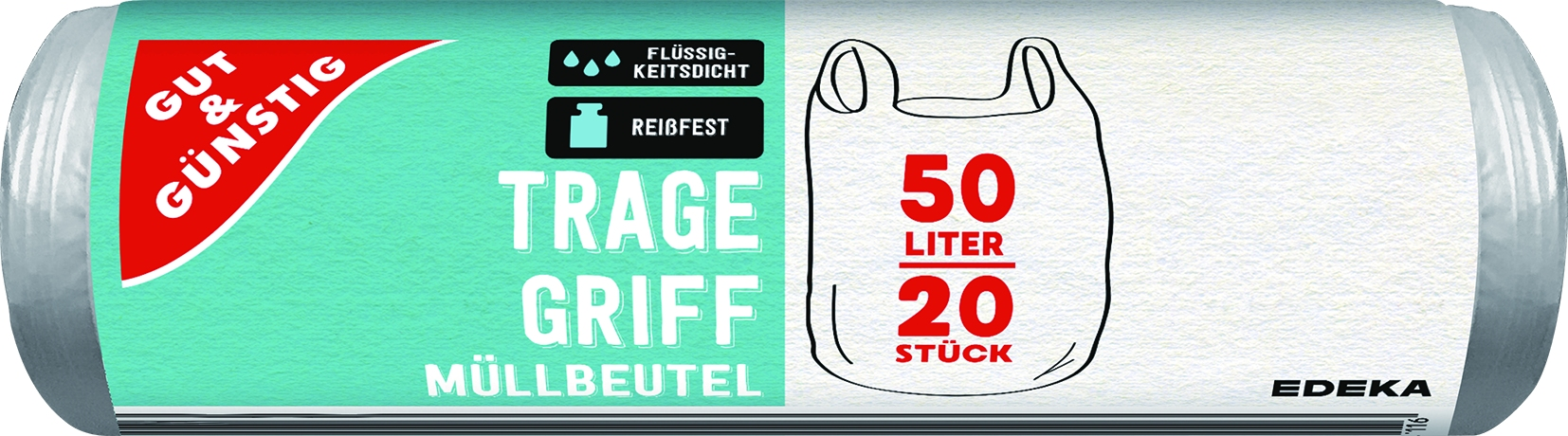 Muellbeutel mit Griff 50Ltr. 20 Stck.
