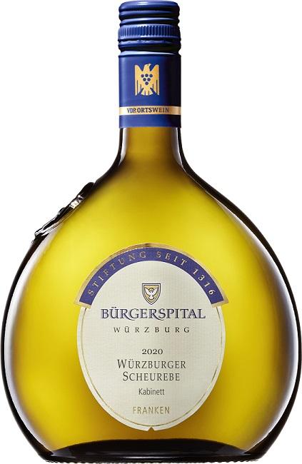 Bürgerspital, Würzburger Scheurebe, Kabinett, VdP. Ortswein, feinherb, weiss