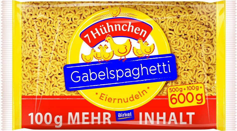7 Huehnchen Gabelspaghetti