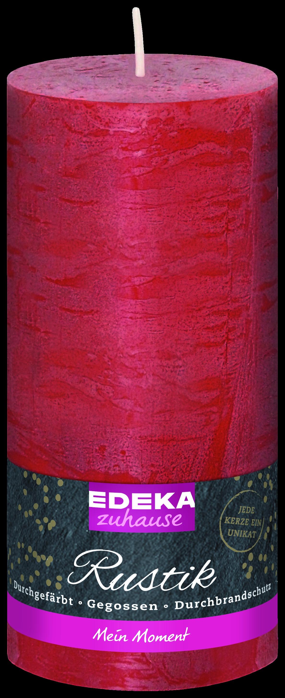 Stumpenkerze Rustik rot 160x70mm