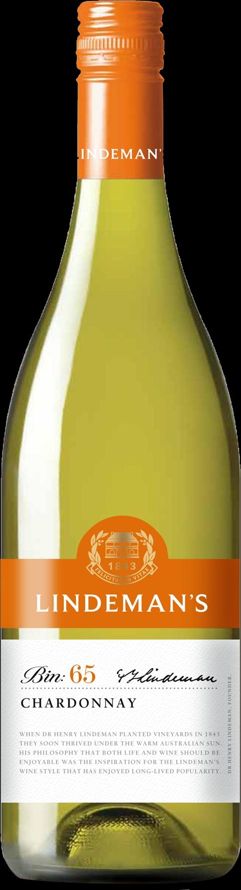 Lindemanns BIN 65, Chardonnay, white