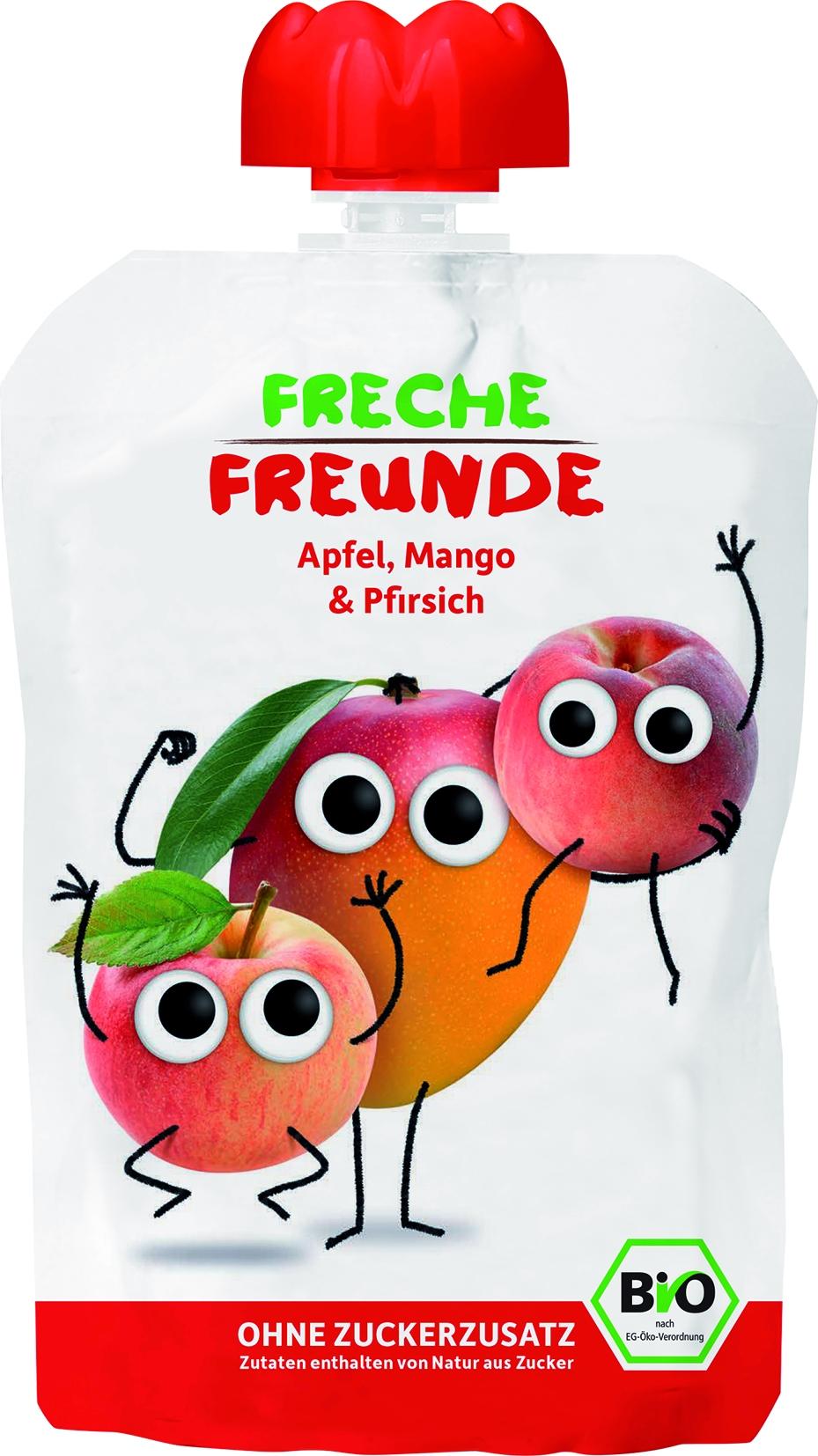 Freche Freunde - Apfel /Mango /Pfirsich