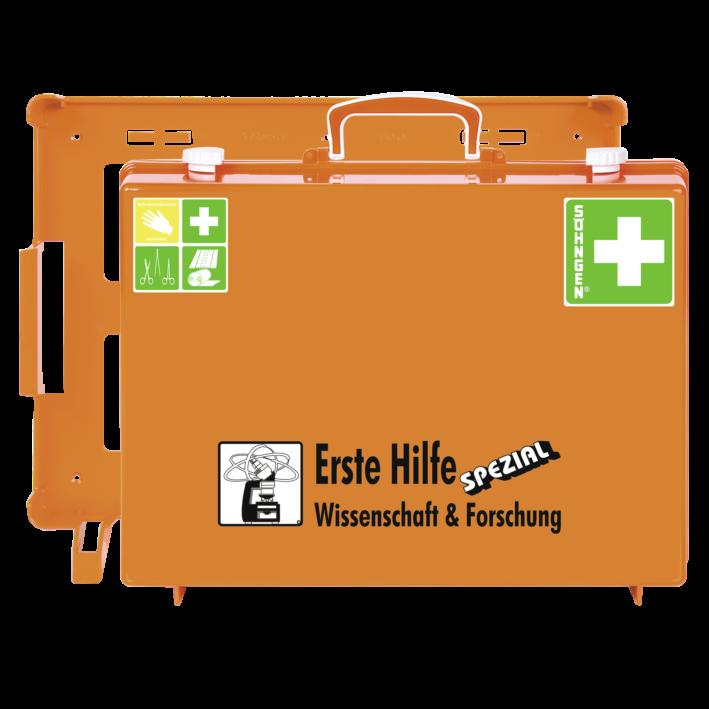 Erste-Hilfe-Koffer WISSENSCHAFT & FORSCHUNG mit der Basis-Ausstattung nach der aktuellen DIN-Norm 13157