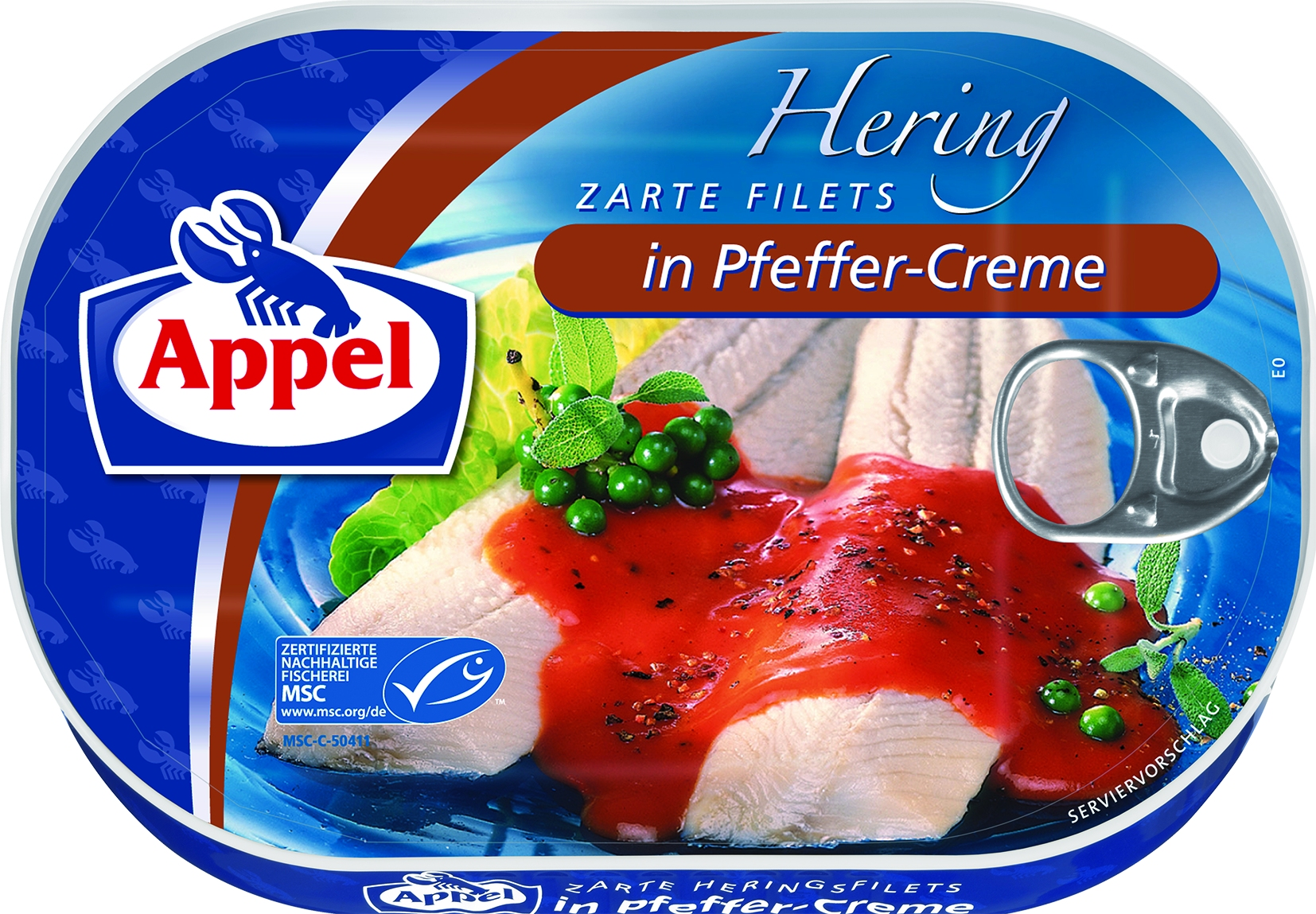 MSC Heringsfilets in Pfeffercreme