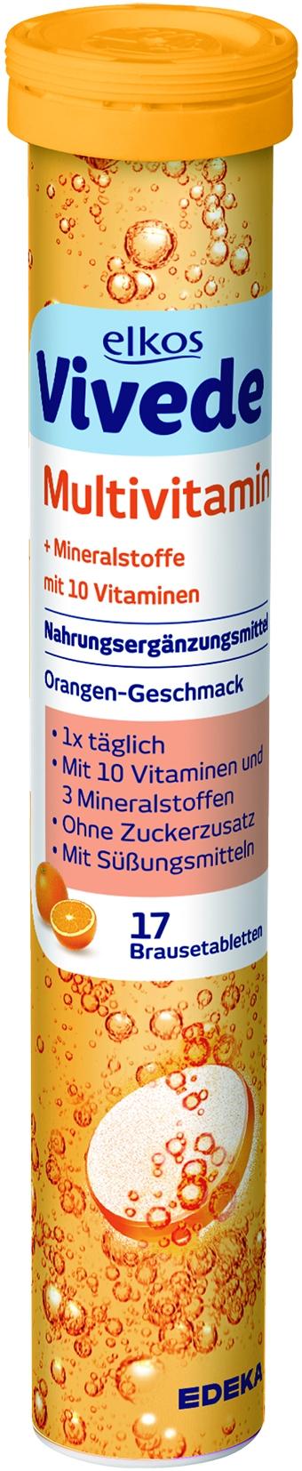VIVEDE Brausetabletten Multivitamin 17er
