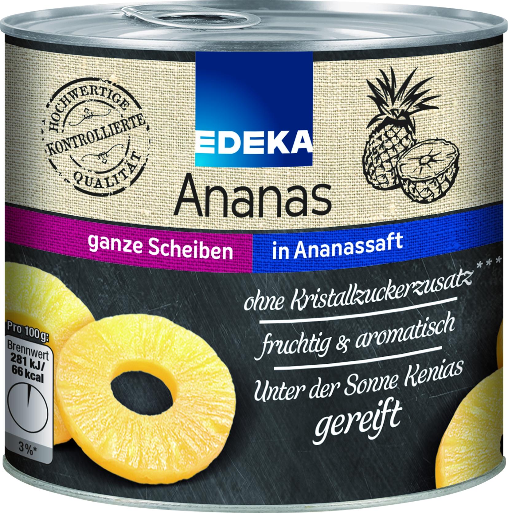 Ananas in Scheiben ohne Zucker