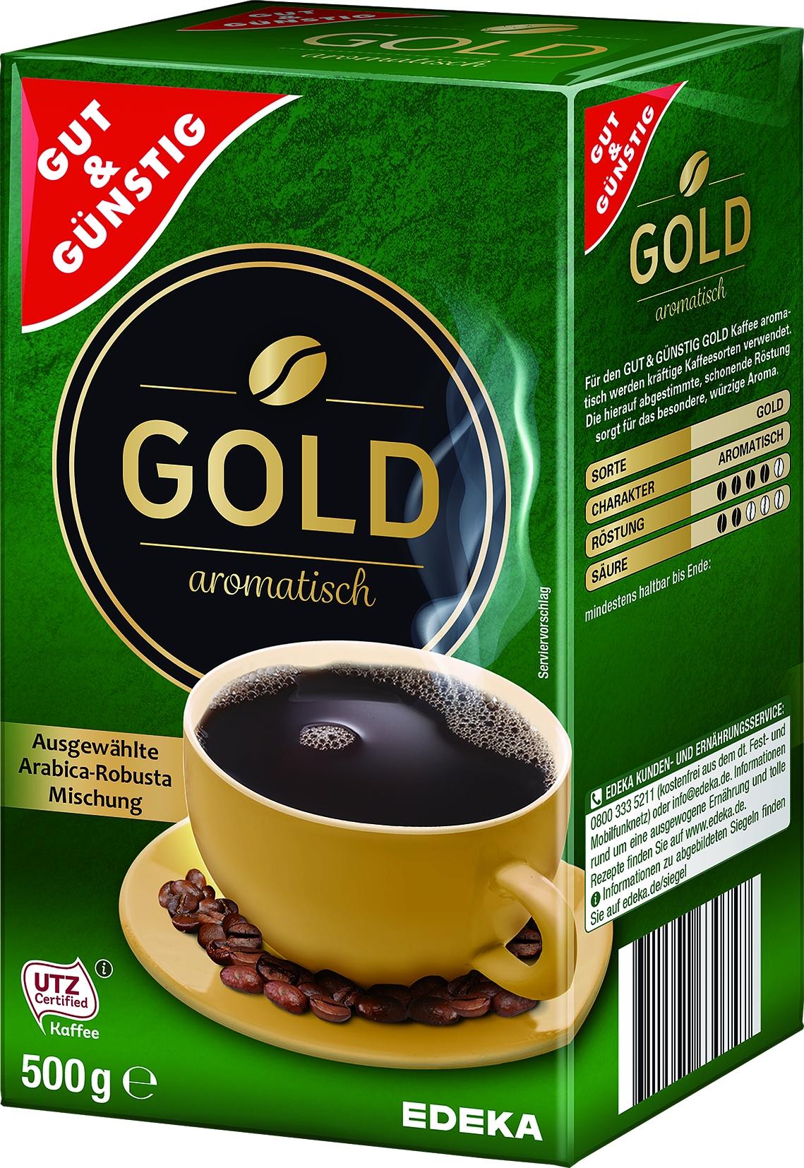 Roestkaffee Gold gemahlen
