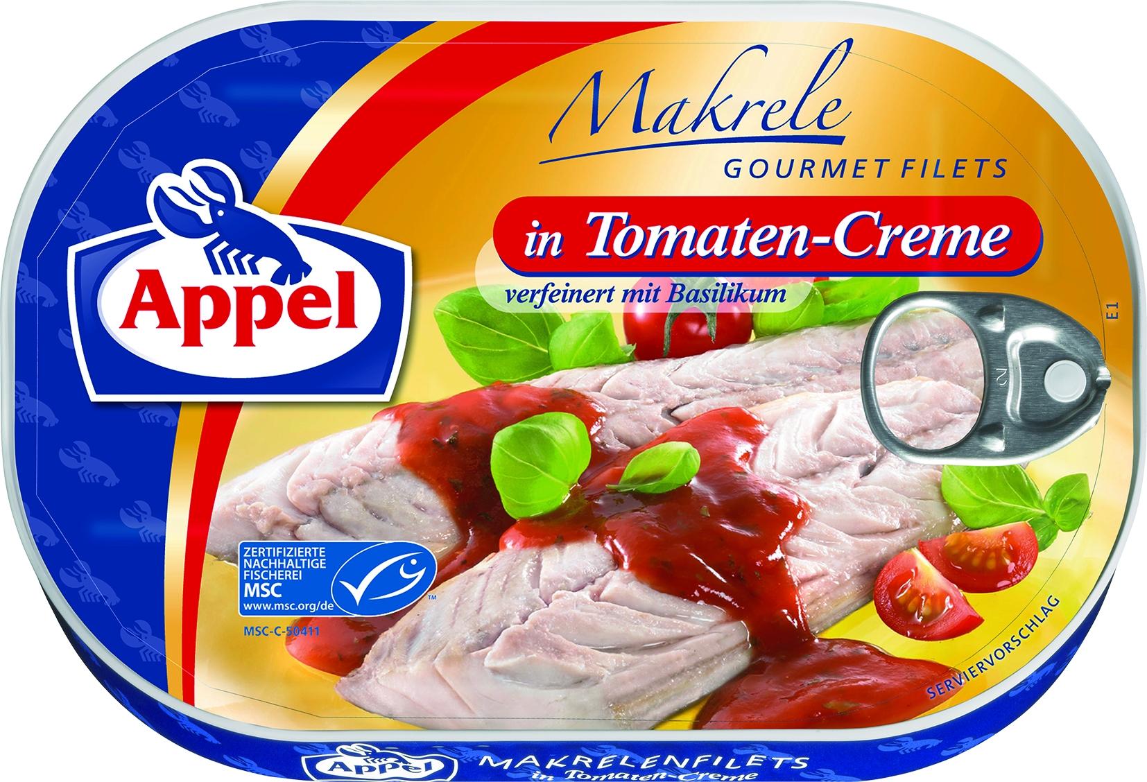 Makrelenfilet in Tomatencreme
