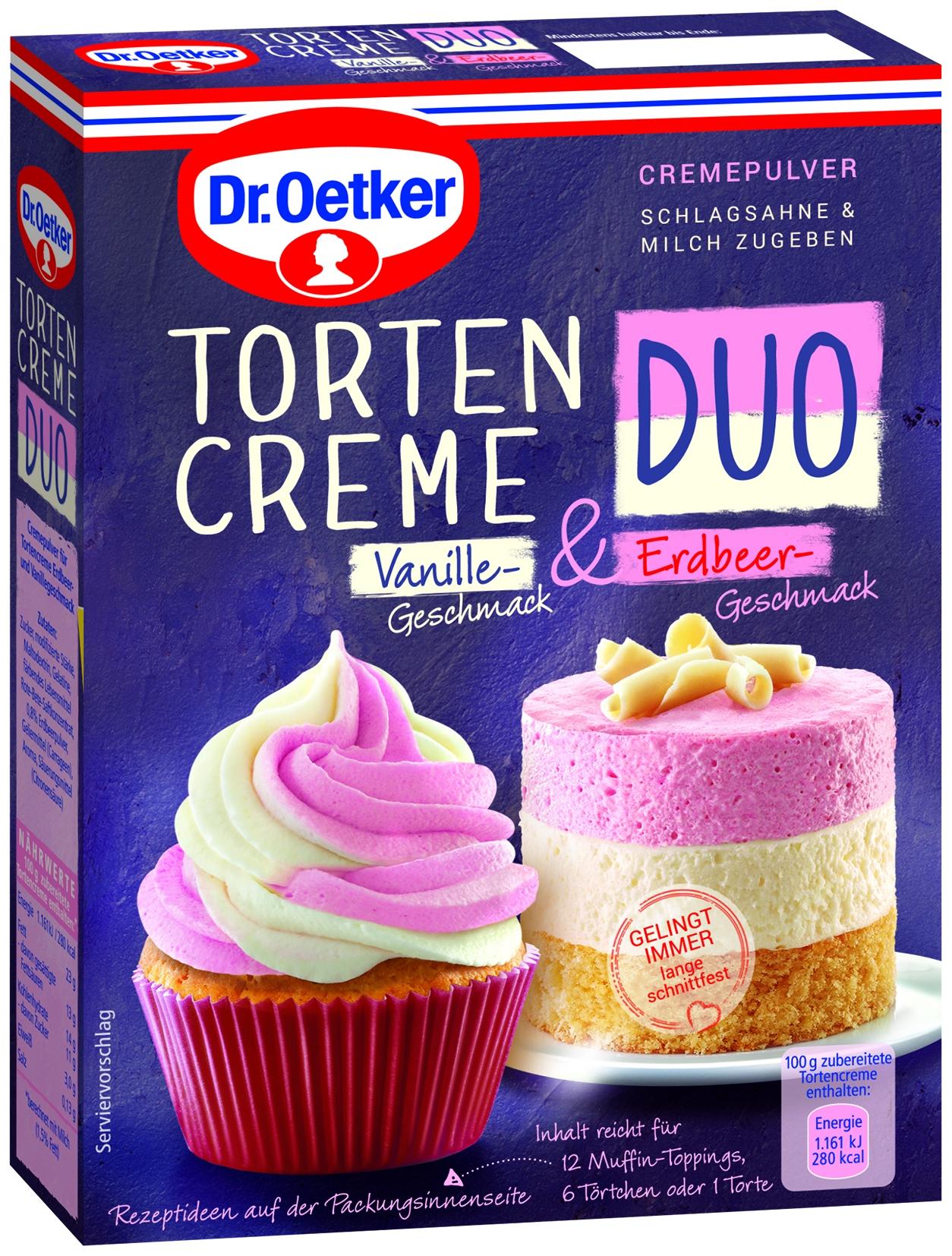 Tortencreme Duo Vanille & Erdbeer