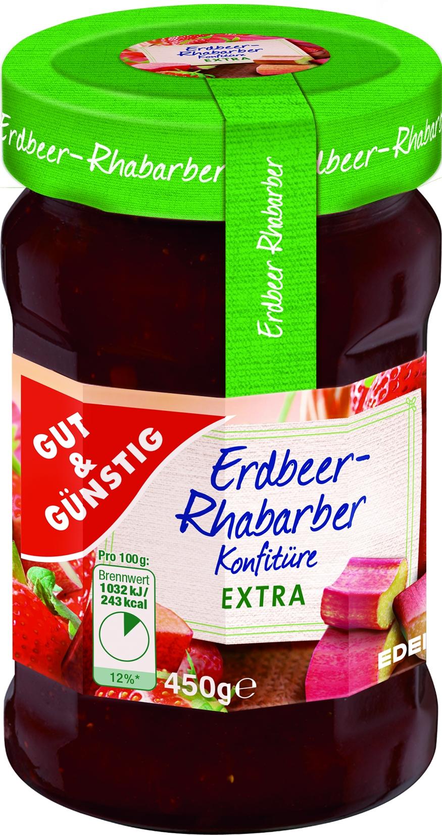 Konfituere extra Erdbeer-Rhabarber