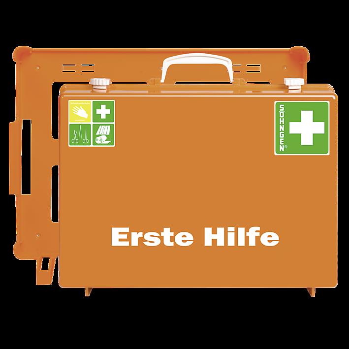 Erste-Hilfe-Koffer mit der Basis-Ausstattung nach der aktuellen DIN-Norm 13169