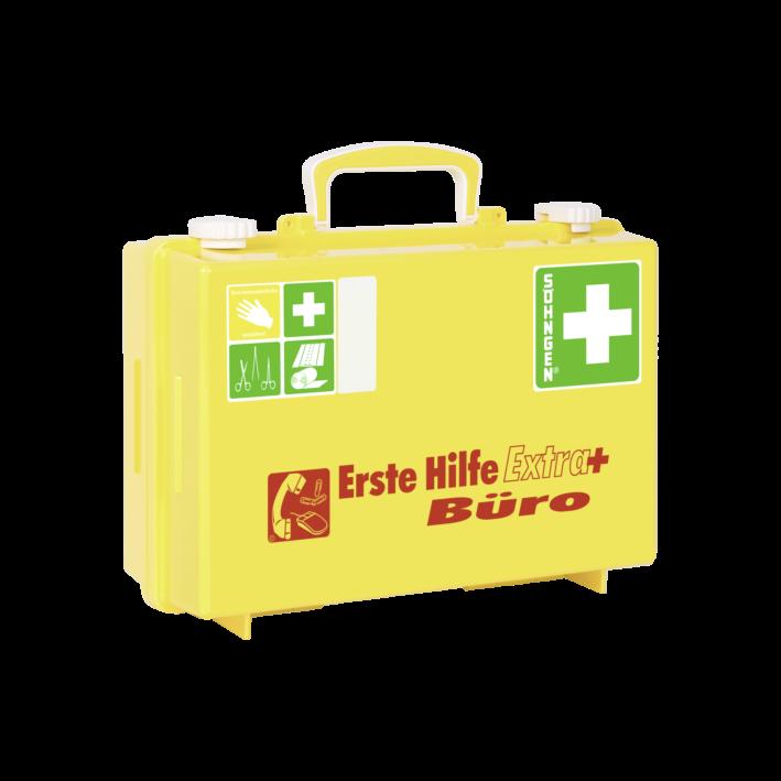 Erste-Hilfe-Koffer Extra+ BÜRO mit der Basis-Ausstattung nach der aktuellen DIN-Norm 13157 mit dem E